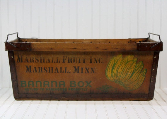 vintage banana box vintage banana crate by huntandfound