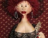 RED-HOT MAMA Cloth Art Doll