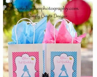 SALE Alice Inspired Party Favor Tags DIGITAL FILE 8.5x11 Jpeg Digital File Personalized