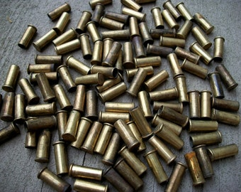 Lot of 100 Brass .22 Cal Bullet Cases
