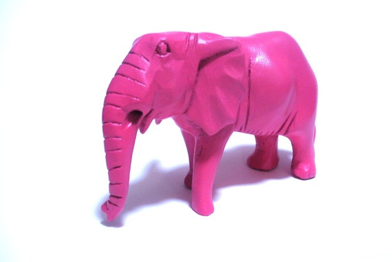 Items Similar To Pink Elephant Figurine Bubble Gum Pink