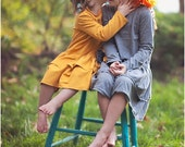 Ashley Knit Ruffle Dress: Girls Knit Long Sleeved Dress PDF Pattern, Baby & Toddler Knit Dress Pattern