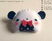 Sushi Panda brooch