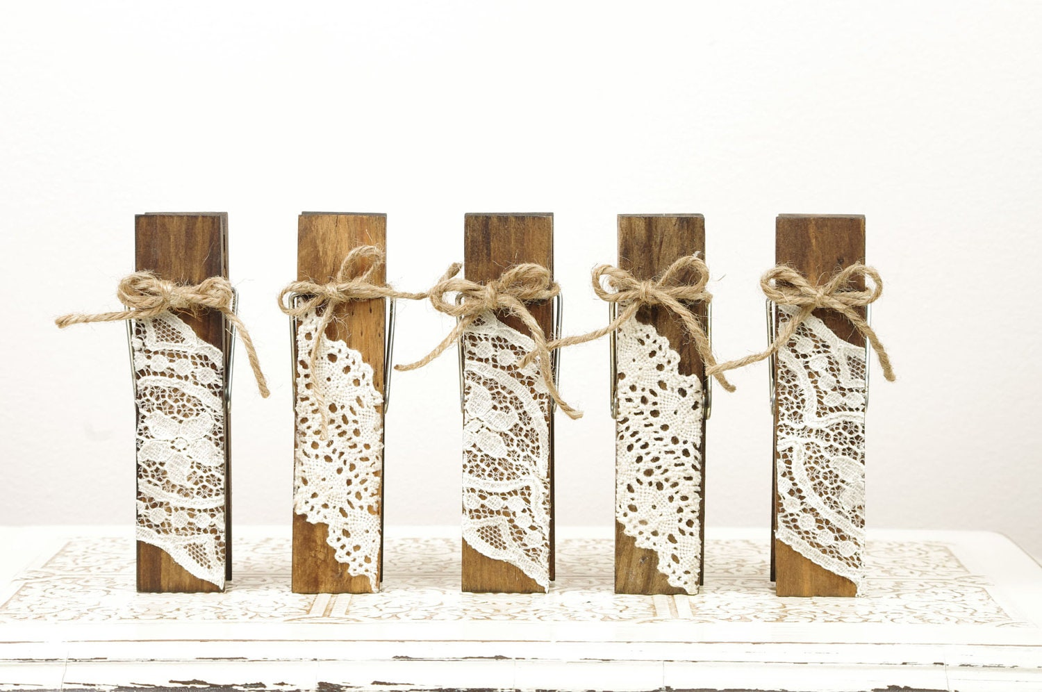 Wood Clothespins Table Number Holders With By DuryeaPlaceDesigns