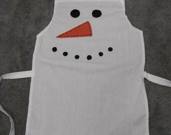 Children's Christmas Snowman Apron