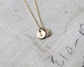 The Gold Duet - Two Tiny Monogram Letter Charm Necklace - Personalized- Delicate Gold Charm Necklace - Two Letter Charms