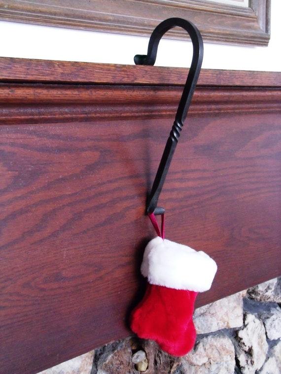 set of six fireplace mantle christmas stocking hangers. Black Bedroom Furniture Sets. Home Design Ideas