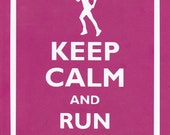 Keep Calm and Run On (Female) Graphic Wall Art