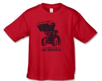 Big Brother to be Shirt - Boys Bull Dozer Big Brother T-Shirt