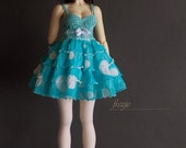 Polkadot turquoise dress for MSD