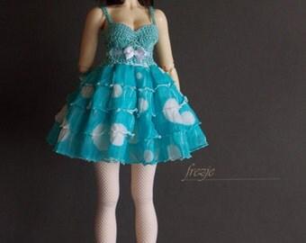 Polkadot turquoise dress for MSD