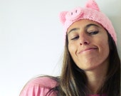 Headband Crochet Pattern Pig PDF - head wrap animal ears Piggy  - baby/kids/woman/man accessory  5 sizes beginner pattern