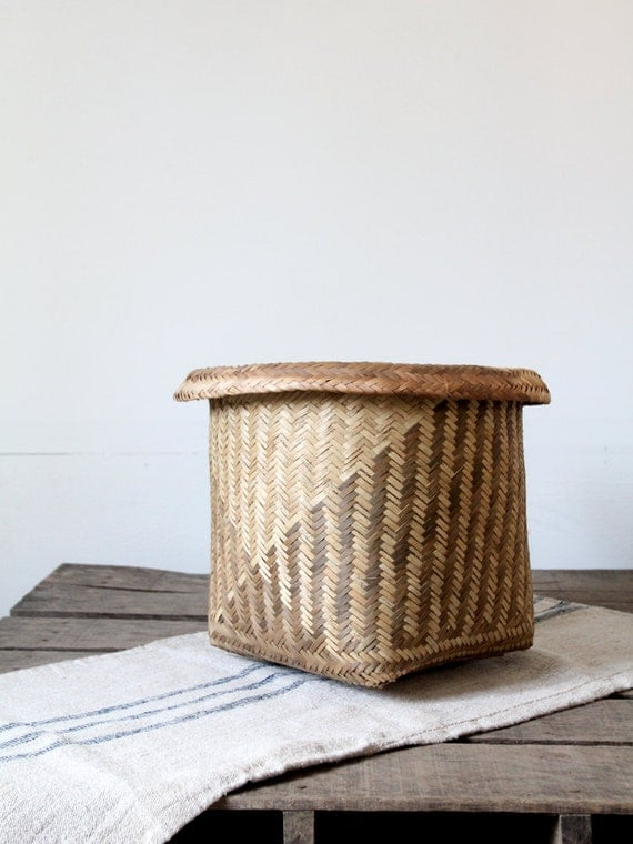 Vintage Woven Basket // Indonesian Catch All