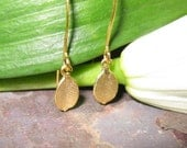 Miniature Dangle Drop  Leaf Trendy  Earrings .Fashion Jewerly.