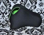 DSLR Camera Case - Black / Lime Green Neoprene