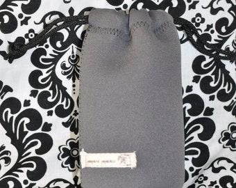 Neoprene lens case - Charcoal Gray