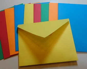 Handmade Bright Colorful Envelopes with adhesive seal
