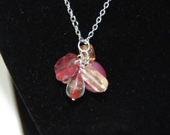 Pretty Pink Cluster Pendant