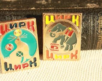 2 Vintage pins - Circus