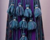 Shell and Turquoise Tassel & String Tribal Bellydance Belt