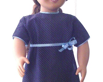 Sweet, simple navy doll dress