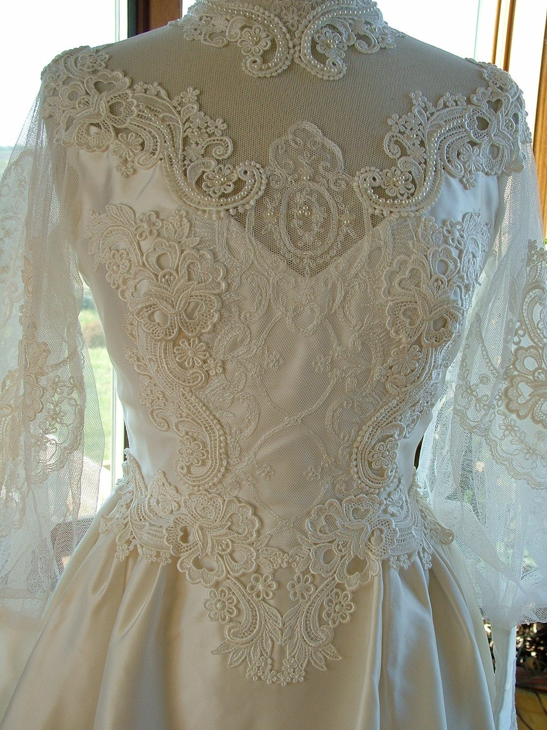 Wedding dress vintage 1970s victorian steampunk bridal gown for 1970 s style wedding dresses
