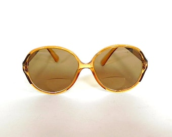 Vintage Christian Dior Oversized sunglasses- glasses honey colored 1970s