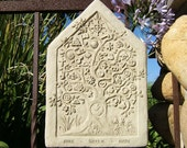 "ONE EARTH TABLET - Stone ""Tree of Life"" Outdoor Wall Hanging (c/v)"