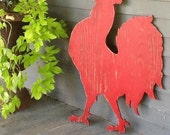 Rooster French Sign Le Grande Rooster French Country Shabby Chic Rooster Sign