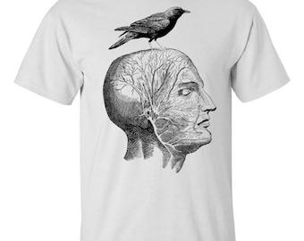 Mens Screen Printed Human Anatomy Tee Shirt