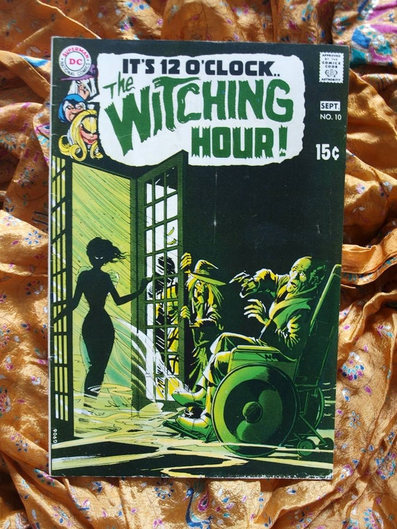 Witching Hour no 10 DC Comics 1970 Neal Adams cover, Alex Toth Gray Morrow Time Travel