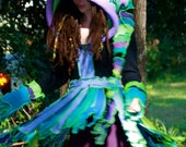 Made to order Super Cute Upcycled Recycled Sweater coat  Pixie Elf Faery Nymph Anemone