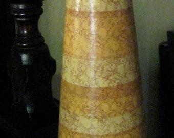 Mid Century Vase / Madeline Original Vase / 60s Orange Yellow Gold Brown Vase