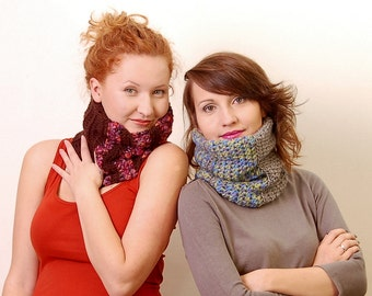 Crochet Pattern PDF - Two Cozy Cowls - double layered extra warm - Crochet Cowl Patterns instant download