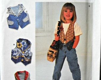 Simplicity 7147, Crafts, Child's Vest and Bag Pattern, Sizes 3, 4, 5, 6