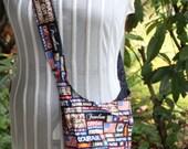 black patriot saddlebag purse