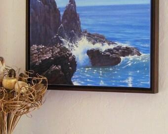 Oil Painting, Ocean Painting, El Matador Beach Painting, California Painting, California Plein Air Painting