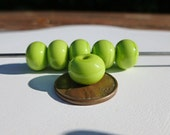 Lime Green Spacer Beads