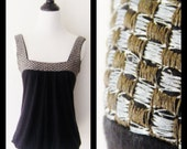 Black, Silver, and Gold Bubble Tank Top Size S