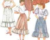 Steampunk Victorian Skirt with Ruffles Pattern Simplicity 5790 (Womens size 12)