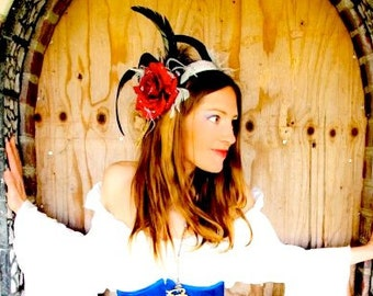 Feather Headdress -made to order- Queen of Hearts