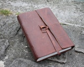 "Leather Journal, Travel Journal, Art Journal, Leather Sketchbook, Watercolor book, ""The Wanderer"""