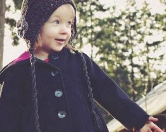 Crochet Hat Pattern: 'Sweet Cheeks' Crochet Bonnet, Newborn, 6-12mo & Toddler