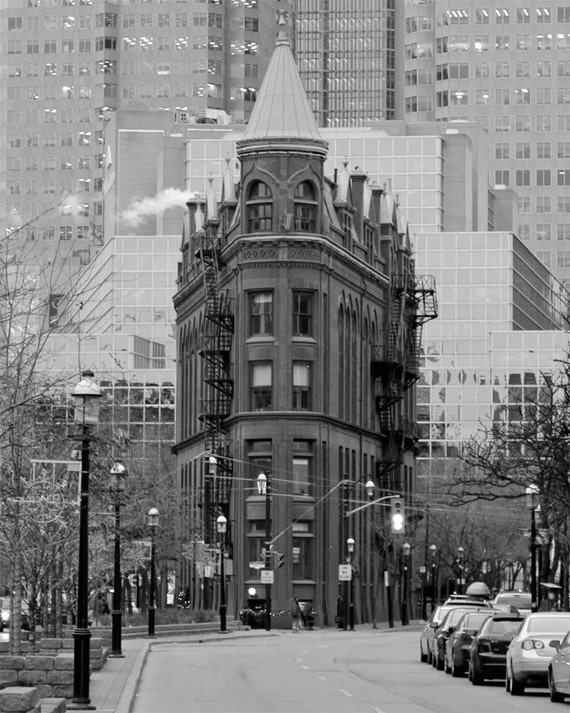 City, Toronto, Flatiron, Architecture, Black & White Fine Art Photography Giclee Print / Home Decor, Wall Art Ghost From Our Past