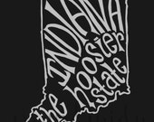 INSTANT DOWNLOAD - Indiana the Hoosier State - 8x10 Illustrated Print by Mandy England