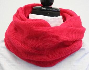Neonred Wool Cowl - Fluffy, Soft & Warm