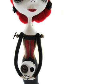 Steampunk Art Doll - Victorian Doll -  Day of the Dead Doll - Made to Order