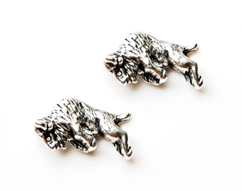 Bison Cufflinks - Gifts for Men - Anniversary Gift - Handmade - Gift Box Included