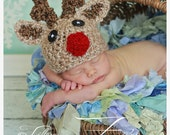 Christmas SALE Baby Reindeer hat beanie 25% OFF in July only (sizes nb-child)