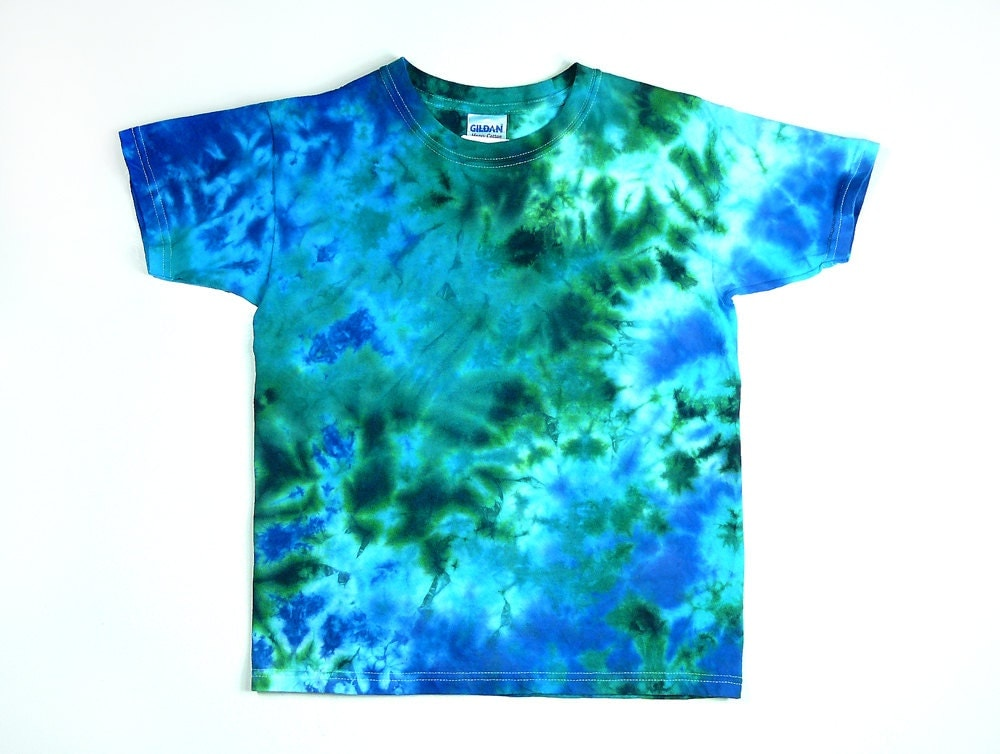tie dye shirt youth t shirt ocean design size xsmall